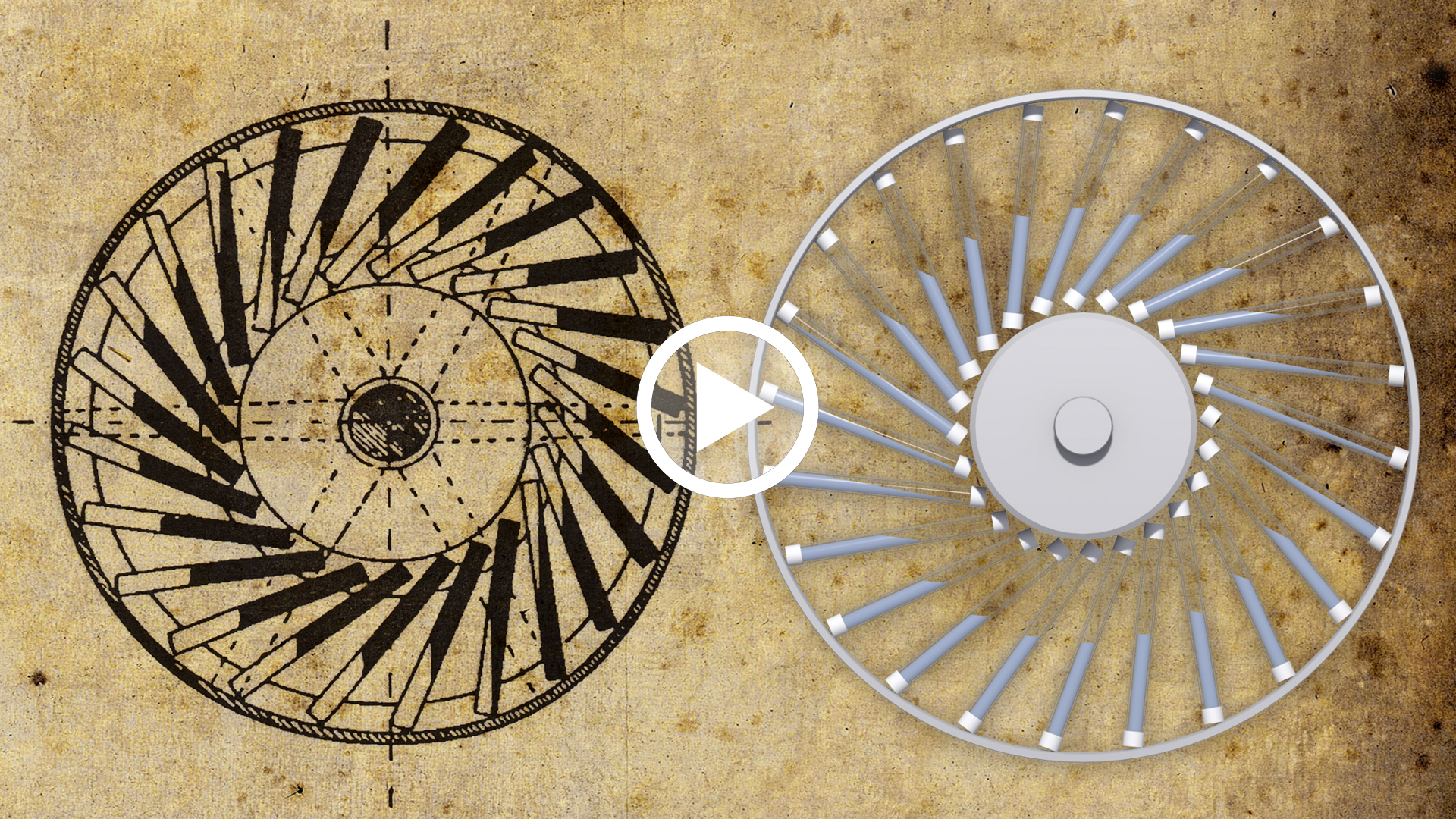 videoPerpetual wheel with oscillating masses