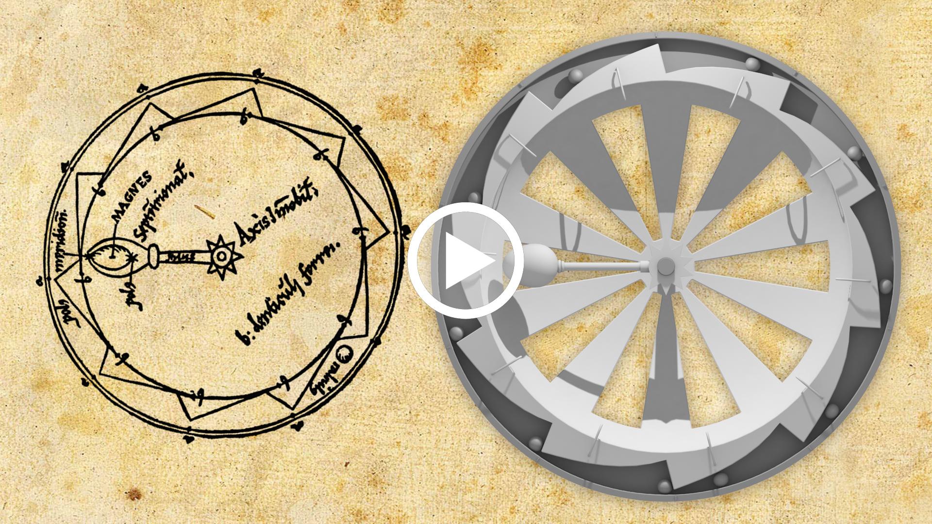 video Pierre de Maricourt, Rota perpetui motus