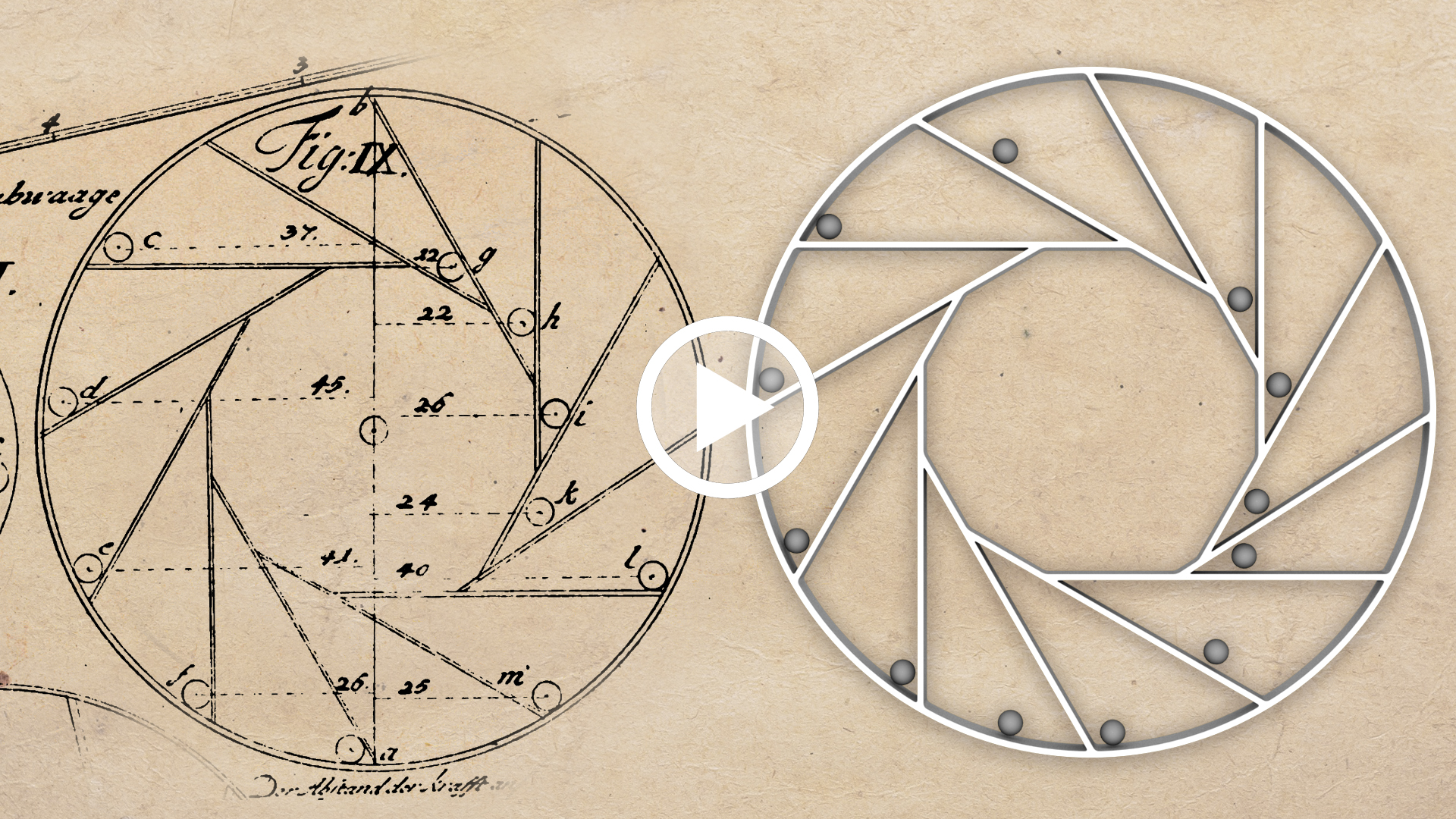 video Jacob Leupold, Ruota perpetua a sbilanciamento di sfere